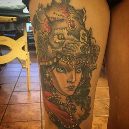 tattoos/ - Gypsy Wolf Head - 112030