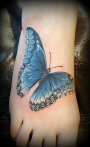 tattoos/ - Max's blue butterfly - 64015