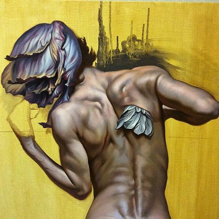 Art Galleries - love is like hope, oil paint, Antonio Proietti - 112436