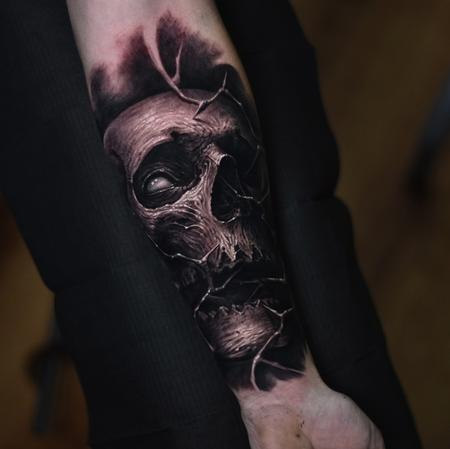 tattoos/ - Skull forearm tattoo - 140653