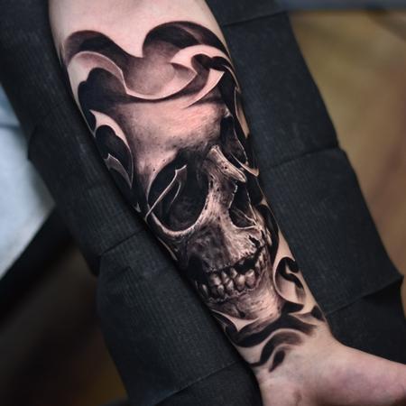 tattoos/ - Black and Grey Skull - 138943