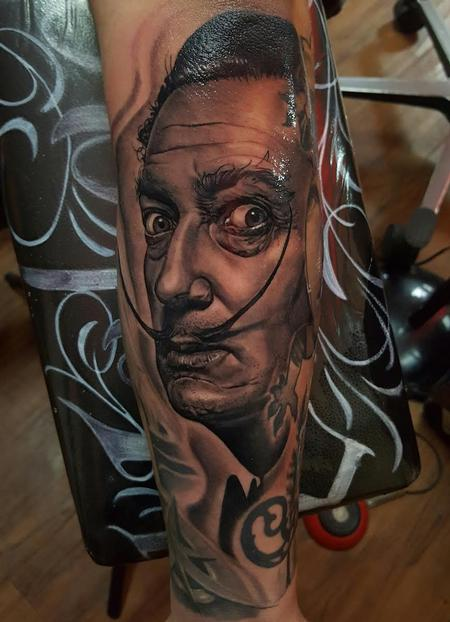 tattoos/ - Salvador Dali Portrait  - 121707