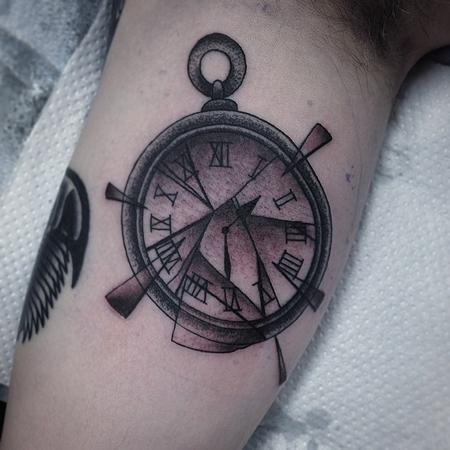 tattoos/ - broken pocket watch - 101421