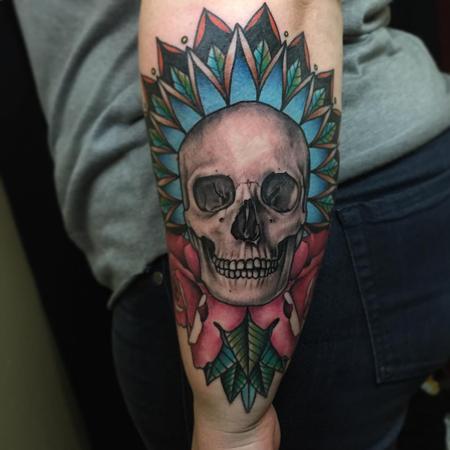 tattoos/ - Skull & Roses Mandala - 108006