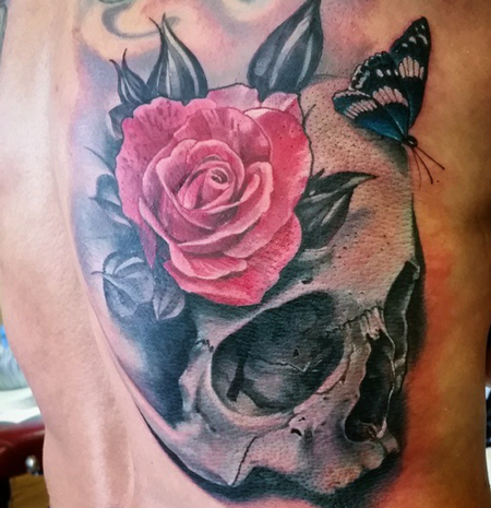 tattoos/ - Skull and Rose Tattoo - 100276