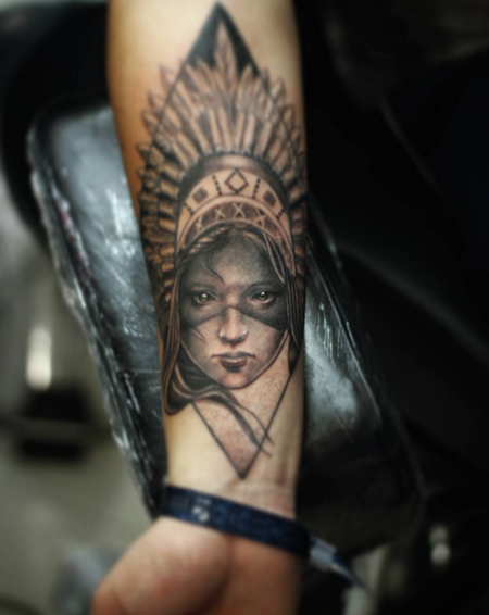tattoos/ - Woman with Headdress - 114475