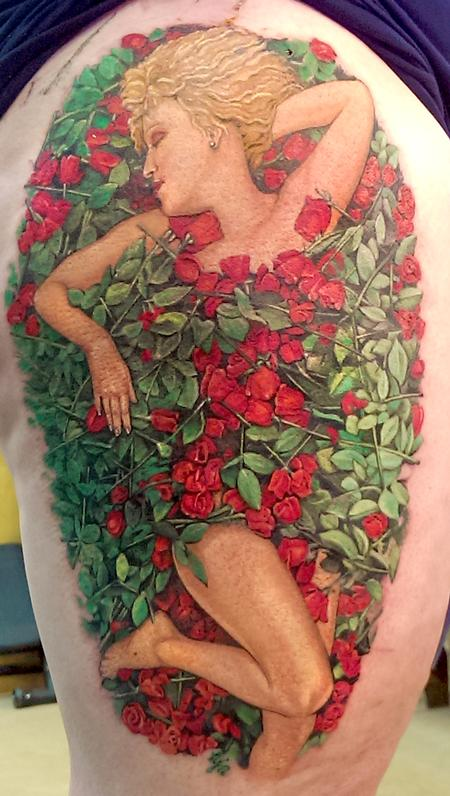 tattoos/ - Bette in a Bed of Roses - 100766