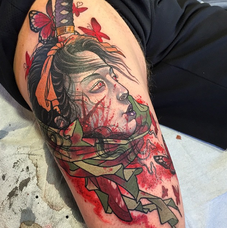 tattoos/ - Samurai Woman - 100294