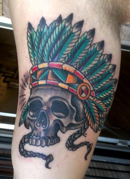 tattoos/ - Skull Headdress - 104890