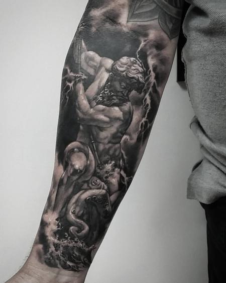 tattoos/ - Poseidon vs kraken - 121946