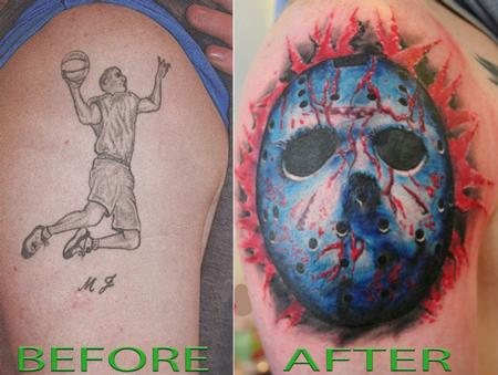 tattoos/ - Color Jason Mask Tattoo - 61640