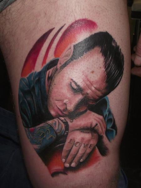 tattoos/ - Portrait Tattoo of Mike Ness - 61753
