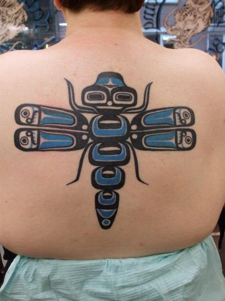 tattoos/ - Tribal Dragonfly Tattoo - 61317