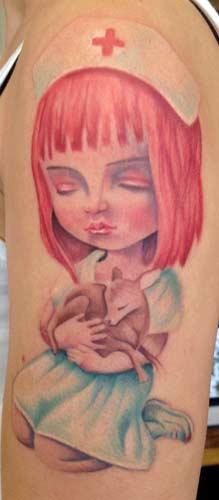 tattoos/ - Mark Ryden Nurse - 67115