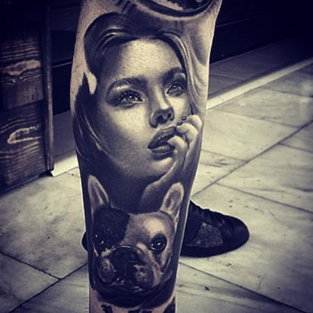 tattoos/ - Woman and Dog - 104974