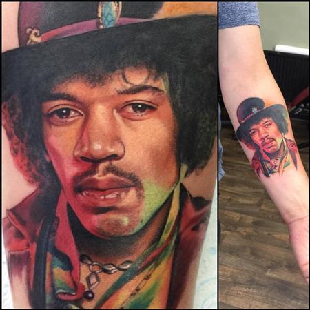 tattoos/ - Jimi Hendrix Portrait Tattoo - 120116