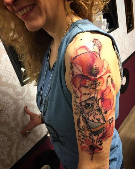 tattoos/ - fiori e gufi  - 126334