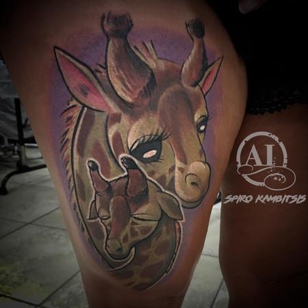 tattoos/ - Mother/Child Giraffe - 112175