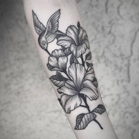 tattoos/ - stipple floral  - 117135