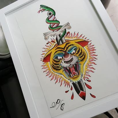 Art Galleries - Tiger Sword Snake - 123159