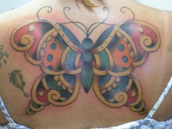tattoos/ - Traditional Butterfly Tattoo - 38689
