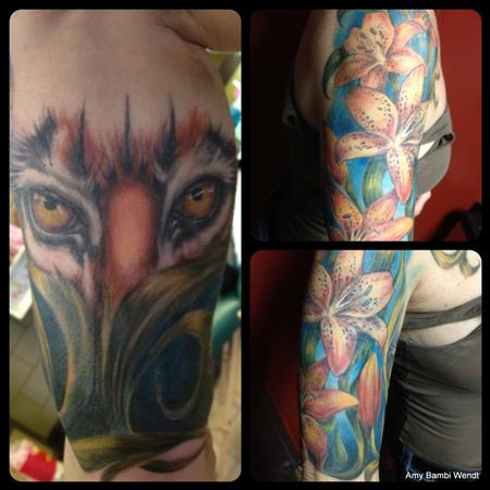 tattoos/ - Tiger and tiger lily - 66877