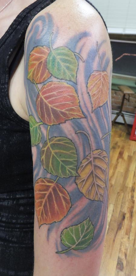 tattoos/ - Aspen Leaves - 114803