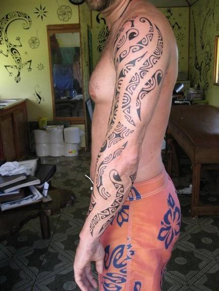 tattoos/ - Black work arm tattoo - 49864