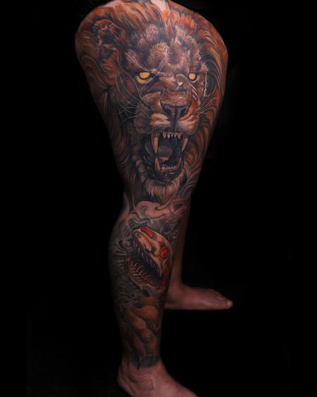 tattoos/ - Ferocity leg sleeve - 134450