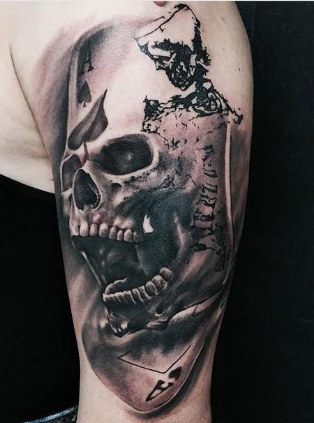 tattoos/ - Skull, Skeleton, and Cards Tattoo - 116648