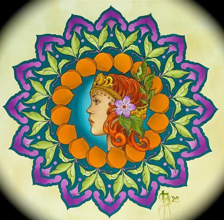 Art Galleries - persian peach - 58110