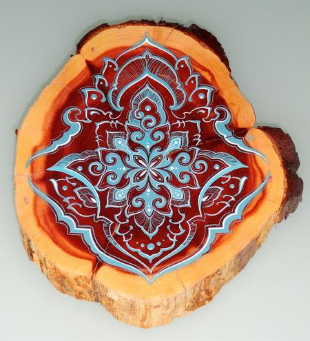 Art Galleries - mandala on wood - 65398