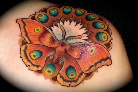 tattoos/ - moth mandala - 65394