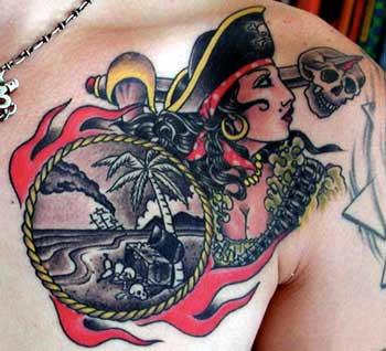 tattoos/ - Pirate Tattoo - 8860