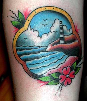 tattoos/ - Traditional Lighthouse - 8858