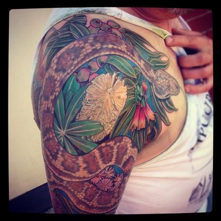 tattoos/ - Aussie native half sleeve - 71280