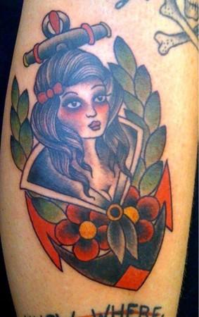 tattoos/ - Traditional girl tattoo - 49310