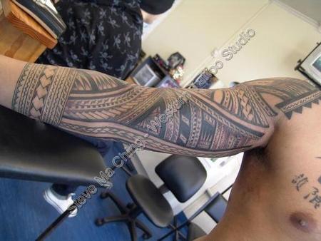 tattoos/ - Black Work Tattoo Sleeve - 60550