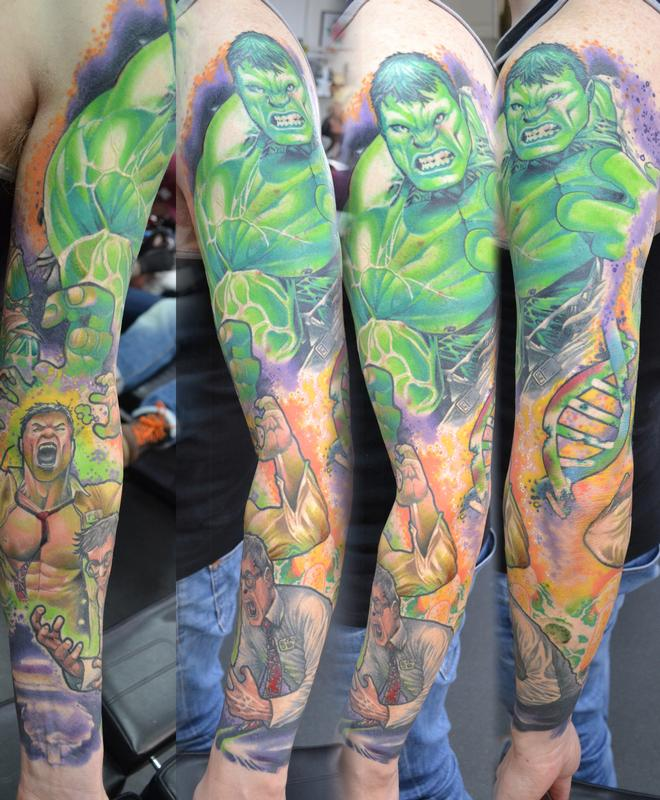 Incredible Sleeve Tattoo: Tattoos By Alan Aldred : Tattoos : Color : Transforming
