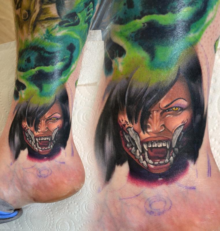 Tattoos By Alan Aldred Tattoos Misc Mileena Mortal Kombat X