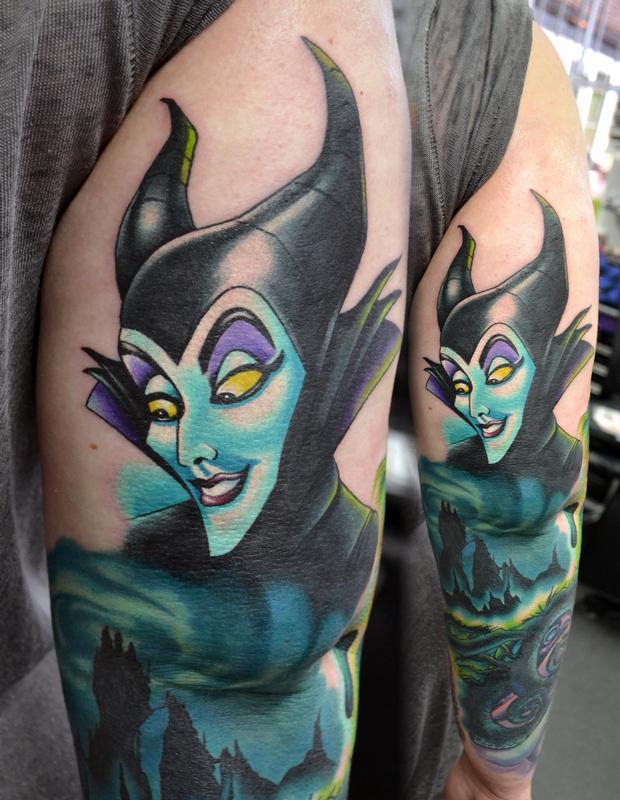 Tattoos By Alan Aldred Tattoos Cartoon Maleficent
