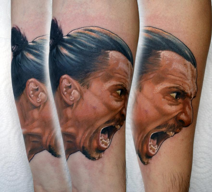 Tattoos By Alan Aldred Tattoos In Progress Zlatan
