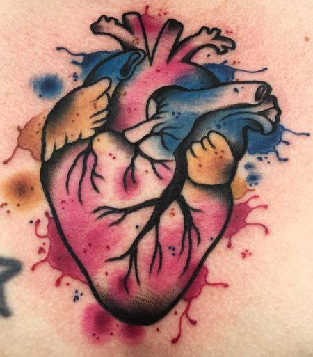 tattoos/ - Watercolor anatomical heart  - 128852