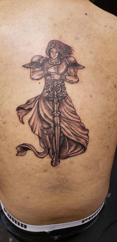 Art Immortal Tattoo Tattoos Cross Guardian Angel Tattoo
