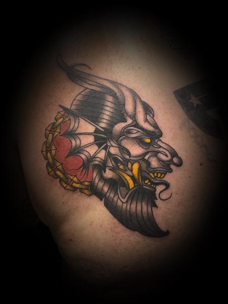 tattoos/ - Demon devil Lucifer chain - 141993