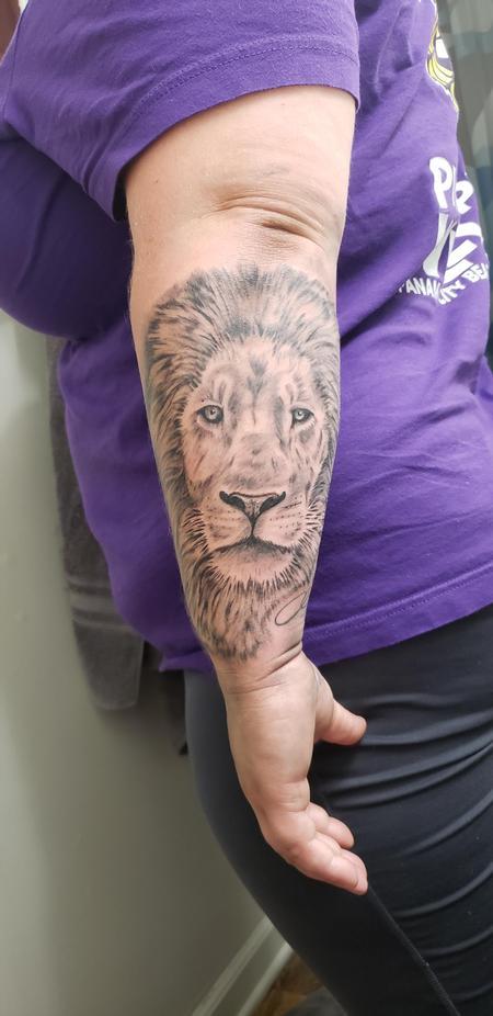 tattoos/ - Realistic Lion Tattoo - 140213