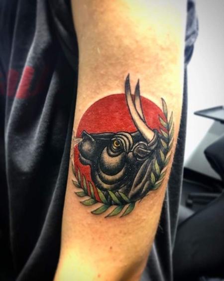 tattoos/ - Traiditional bull tattoo - 141331