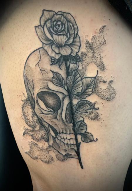 tattoos/ - Skull rose - 143036