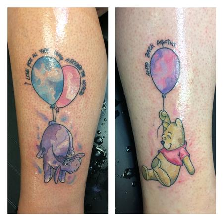 tattoos/ - Water color Winnie the Pooh  - 140141