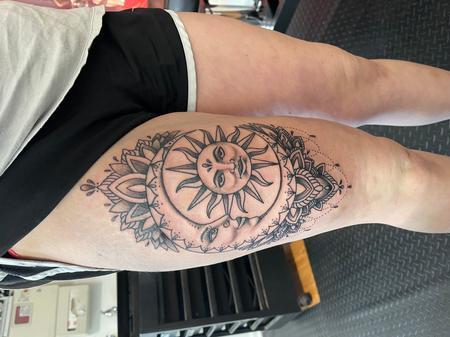 Ornamental sun and moon